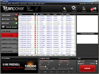 Screenshot des Titan Poker Lobby