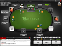 Screenshot des Titan Poker Tisch